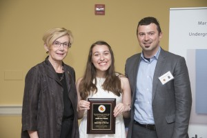 Jennifer Weinstein recognized as a top undergraduate researcher by the university